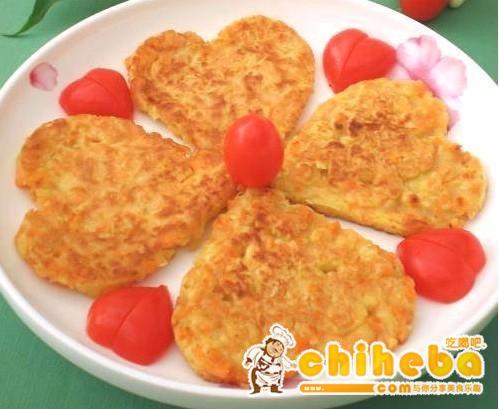 情人节红薯鸡蛋煎饼