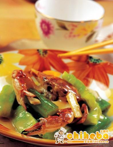 苦瓜烩花蟹