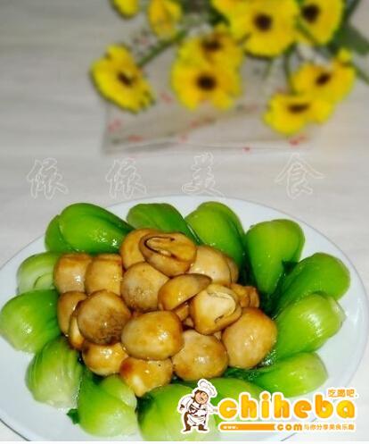 虾子蚝油鲜草菇