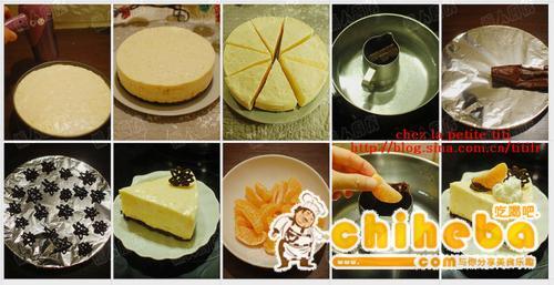 免烤柑橘巧克力芝士蛋糕的做法(法式甜点菜谱)