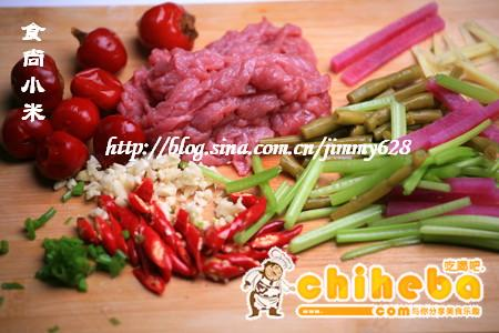 香芹泡菜牛肉丝制作步骤