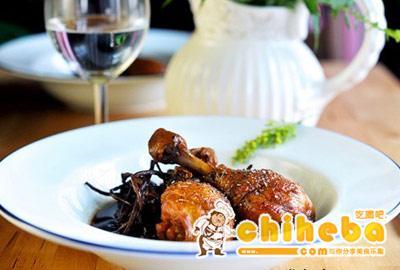 锅烤豉油鸡腿