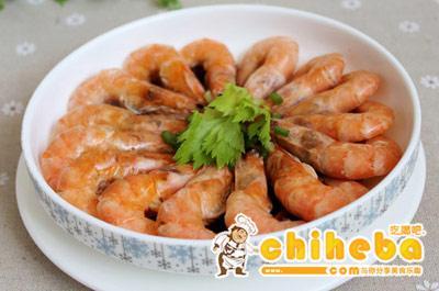 椒麻油炝拌基围虾