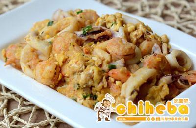 马拉盏海鲜炒蛋