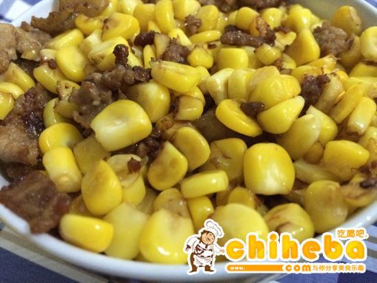 玉米炒碎肉----减肥的食谱的做法 步骤6