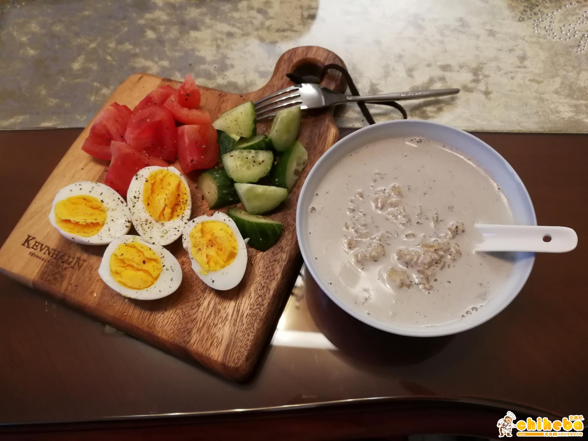 减肥食谱第1天-早餐的做法 步骤1