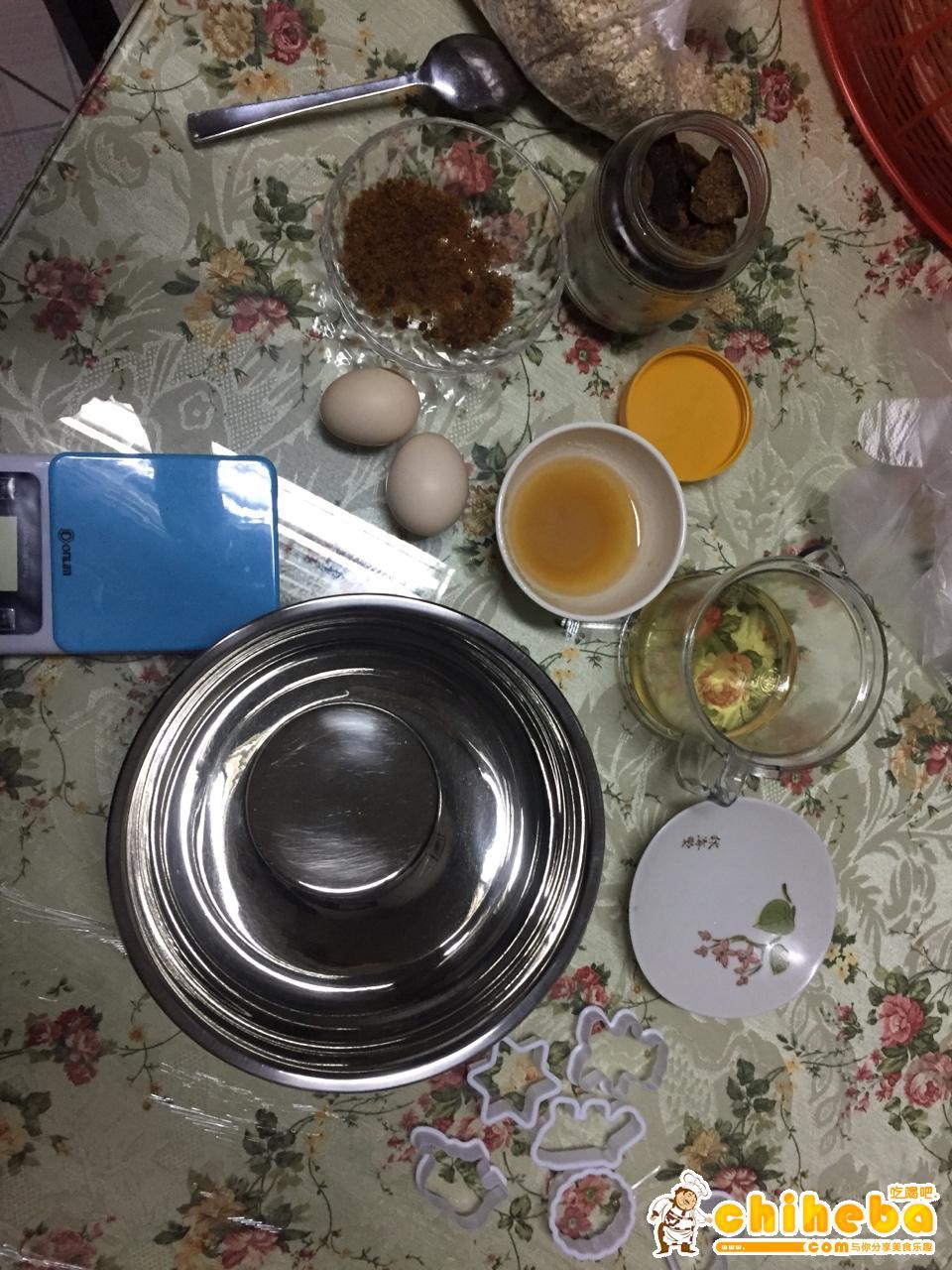 红糖燕麦饼干(减肥期间零食)的做法 步骤1