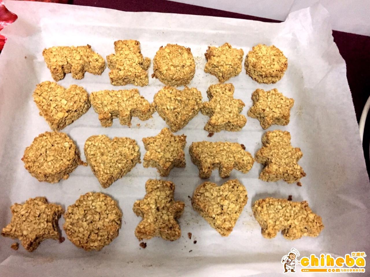 红糖燕麦饼干(减肥期间零食)的做法 步骤5
