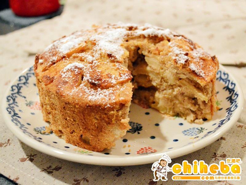 ★无油低碳水减肥甜品★苹果豆渣蛋糕
