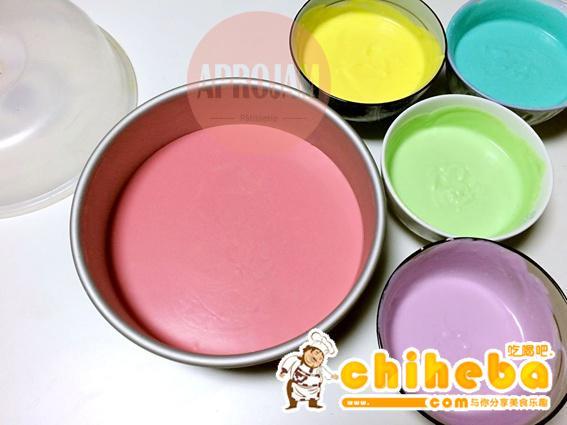 彩虹慕斯蛋糕的做法 步骤20