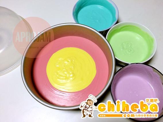 彩虹慕斯蛋糕的做法 步骤21