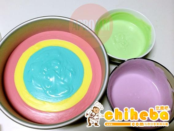 彩虹慕斯蛋糕的做法 步骤22