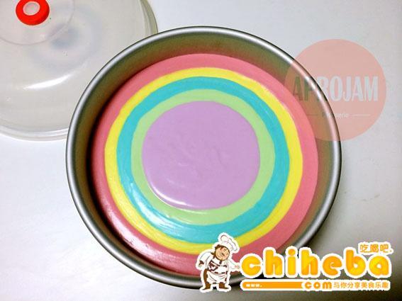 彩虹慕斯蛋糕的做法 步骤23
