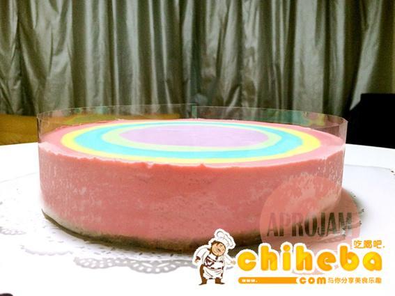 彩虹慕斯蛋糕的做法 步骤25