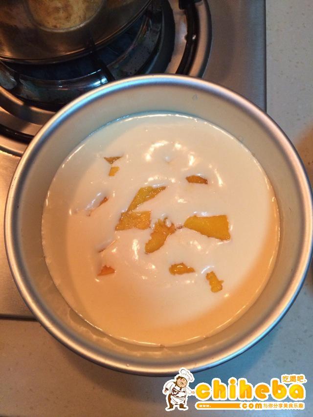 芒果慕斯蛋糕的做法 步骤7