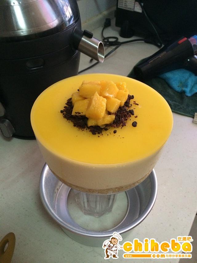 芒果慕斯蛋糕的做法 步骤11