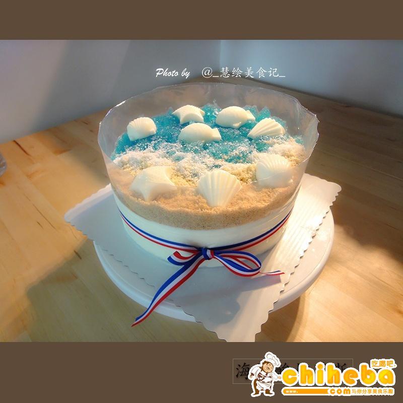 海洋酸奶慕斯蛋糕的做法 步骤2
