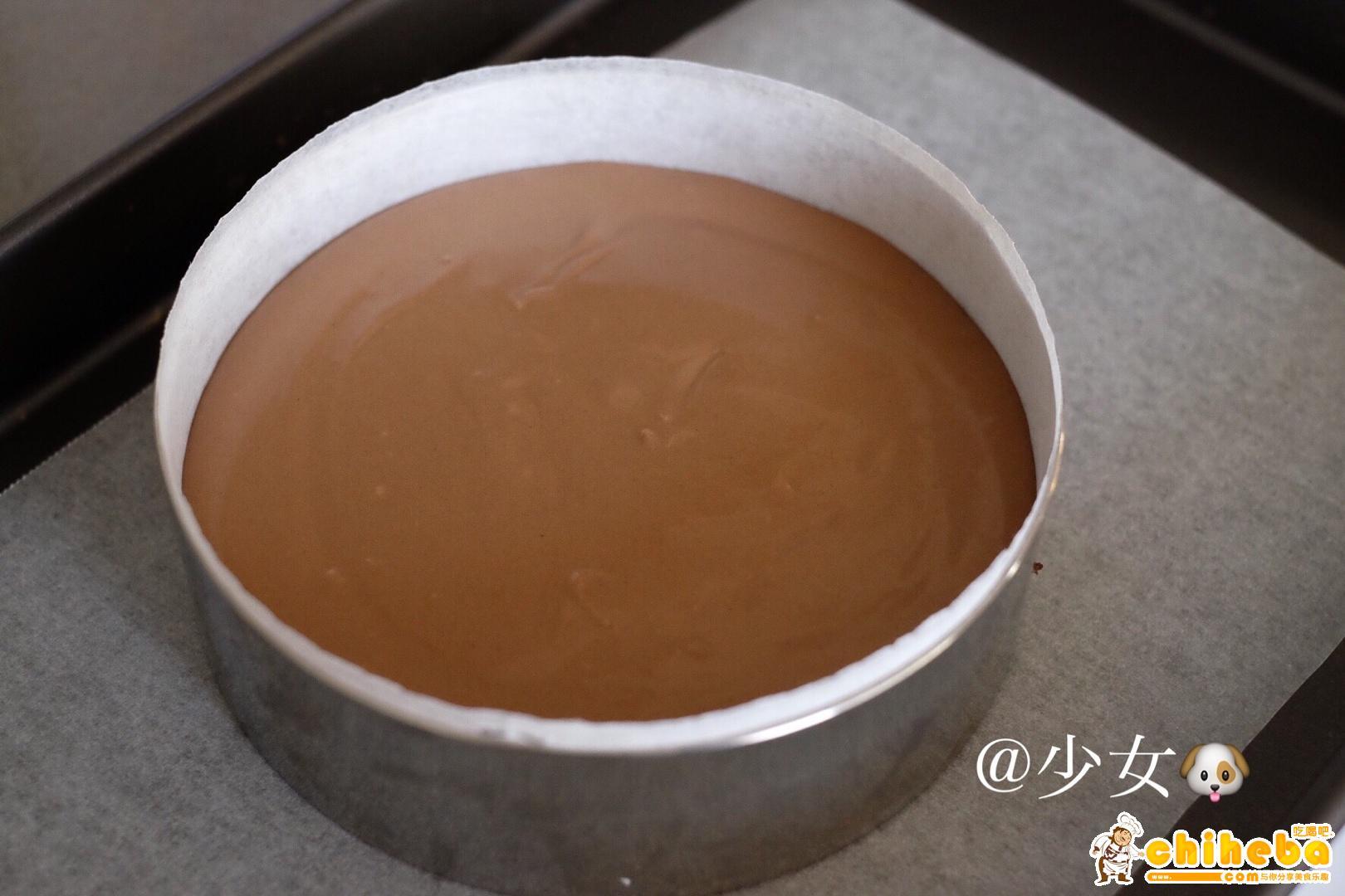 <LeTao> 巧克力双层芝士蛋糕配方大公开!!的做法 步骤9