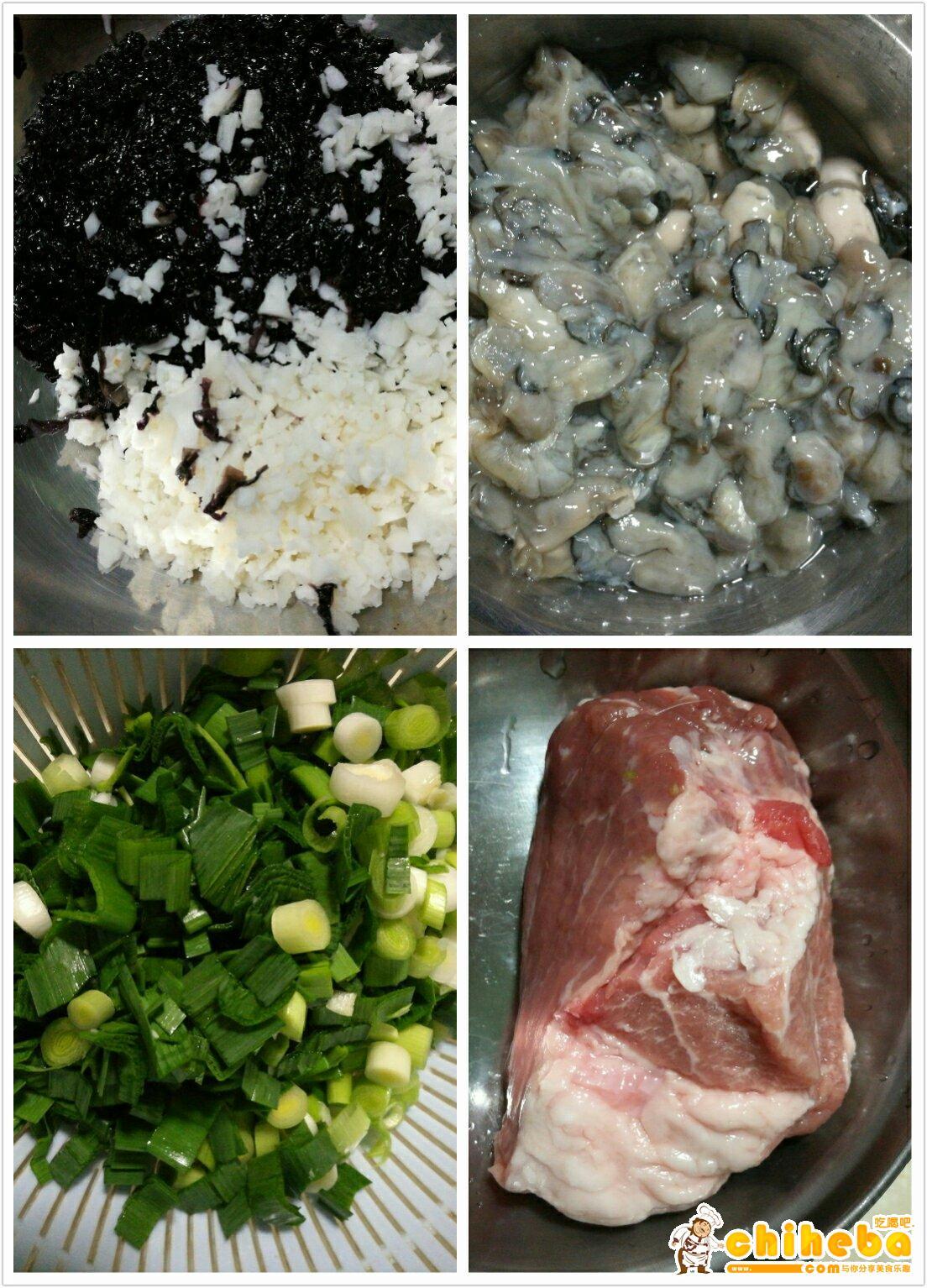 闽南小吃-炸紫菜海蛎饼的做法 步骤1