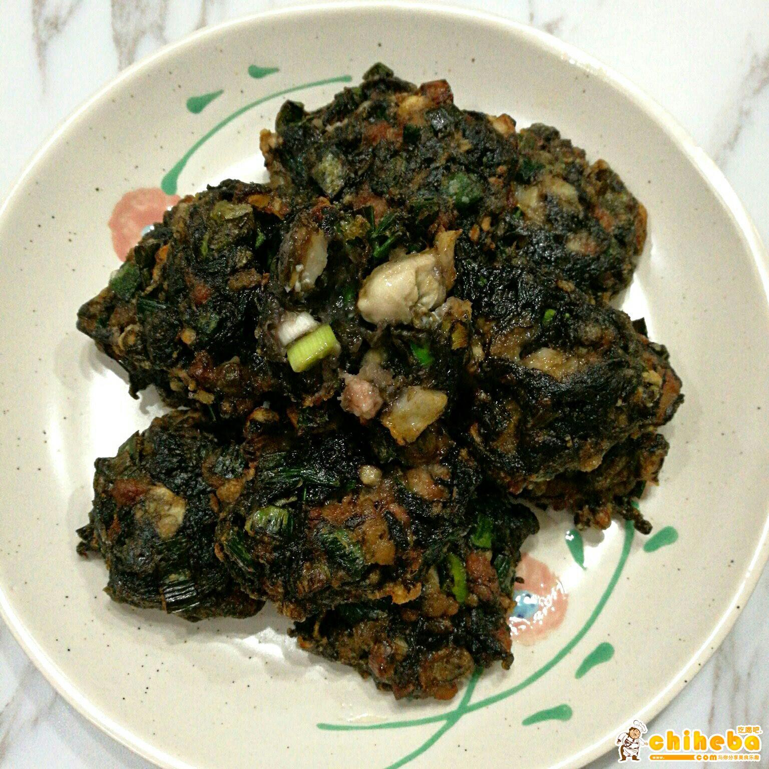 闽南小吃-炸紫菜海蛎饼