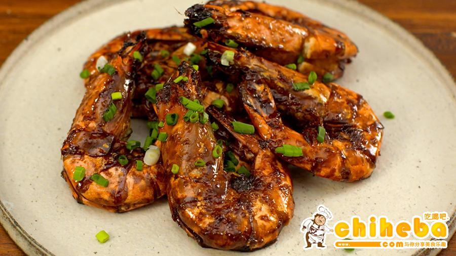 豉油皇煎虾的做法 步骤7