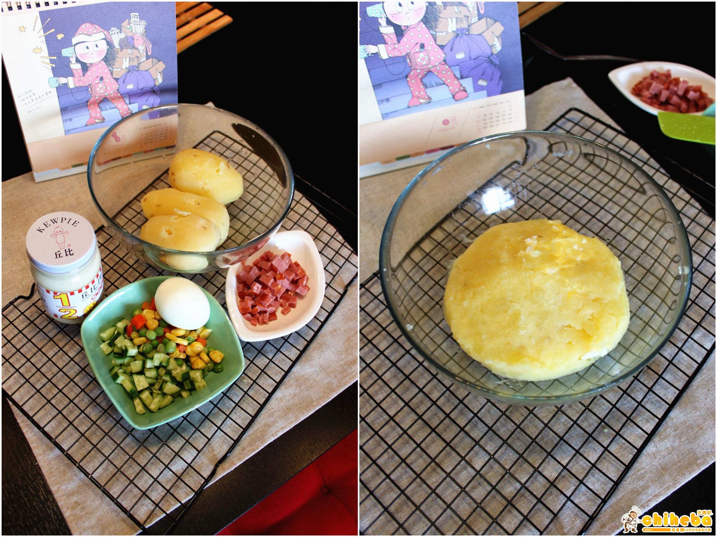 够小清新的土豆做法--土豆沙拉的做法 步骤5