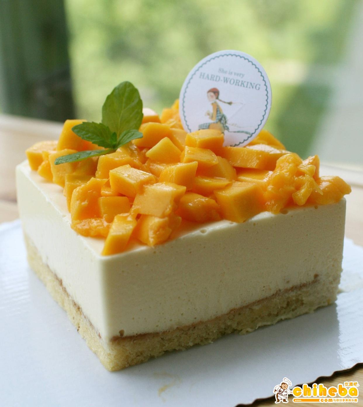 小清新芒果慕斯蛋糕