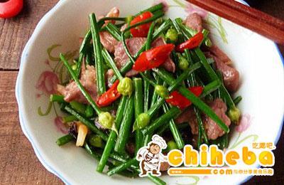 韭菜花炒猪脷