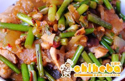 冬瓜蒜苔炒肉