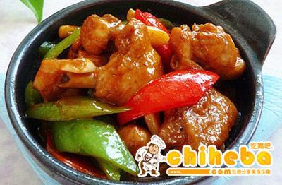 黑胡椒炒滑鸡