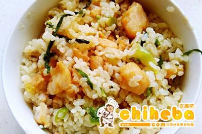 龙利鱼炒米饭