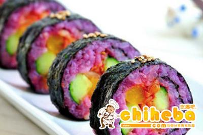 美味紫薯寿司卷