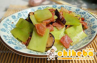 培根香菇炒莴笋片