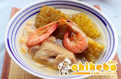 虾干苦瓜汤