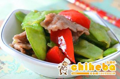荷兰豆炒猪颈肉