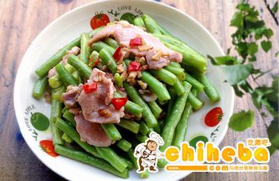 沙姜豇豆炒肉片