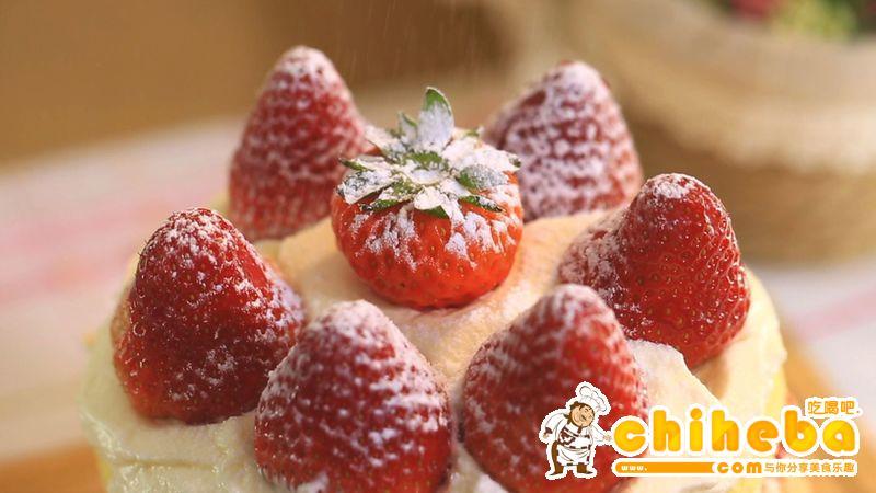 草莓奶油蛋糕—迷迭香