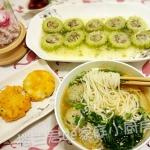 营养早餐-日式可乐饼、苦瓜酿肉、泡菜牛丸面