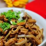 韭菜黄香干炒面