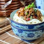 杏鲍菇豆豉肉酱面