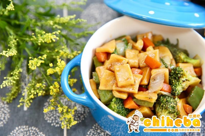 杂蔬炒面片(炒疙瘩)