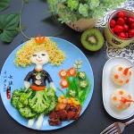 儿童长高食谱--卷发女孩儿童餐