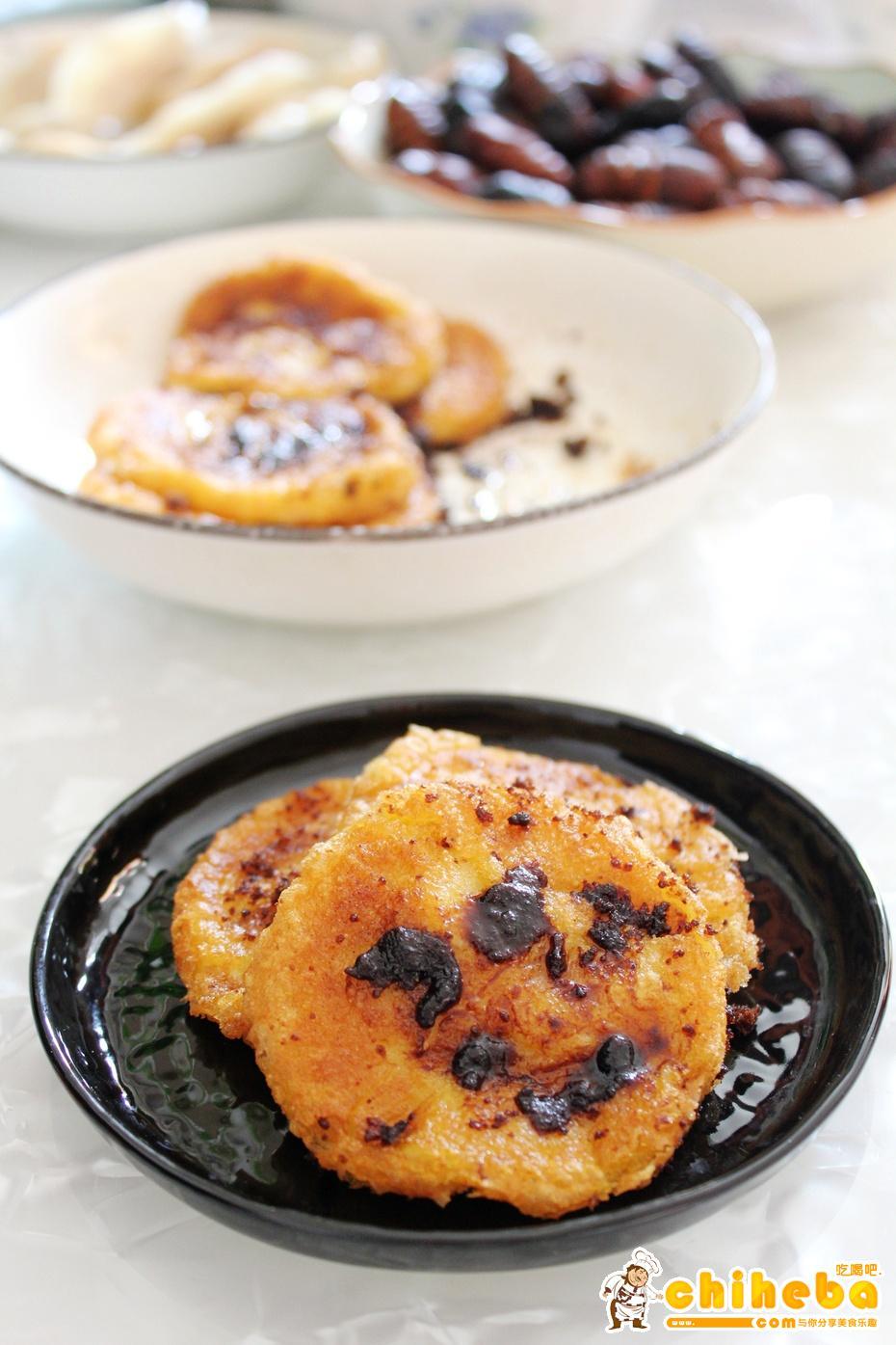 山西特色小吃-红糖煎黄糕