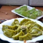 菠菜鲜肉鳞虾蒸饺