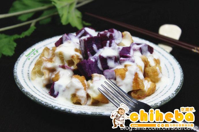 紫薯蒸油条
