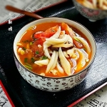 香菇番茄汤剪刀面
